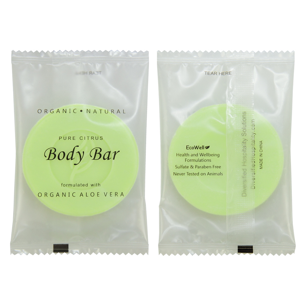 Pure Citrus Body Bar - 25g Sachet (Front and Back)