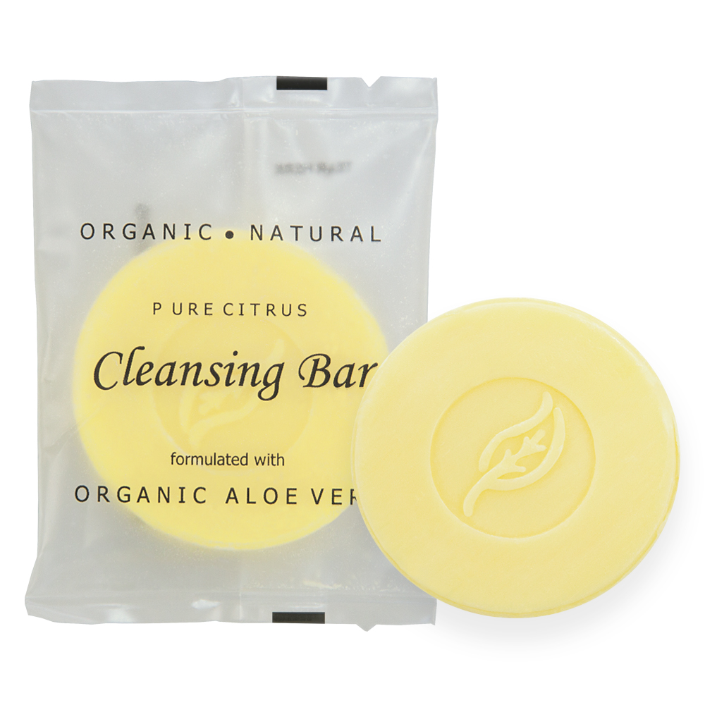 Pure Citrus Cleansing Bar - 14g Sachet (Front and Contents)