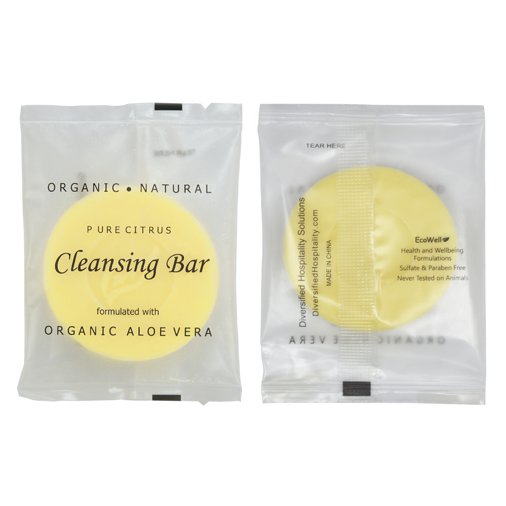 Pure Citrus Cleansing Bar - 14g Sachet (Front and Back)