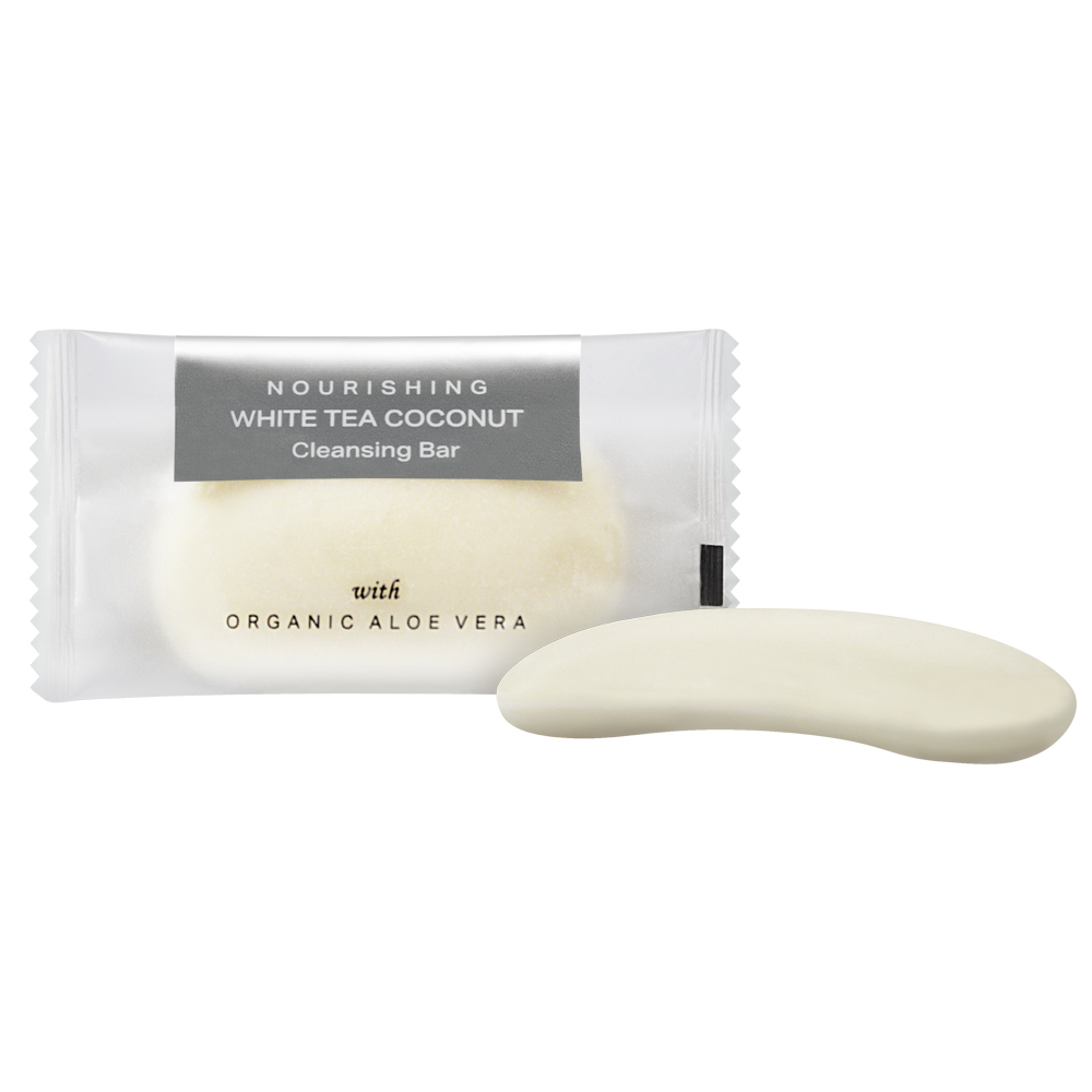 Coconut Cleansing Bar - 20g Sachet (Front and Contents)