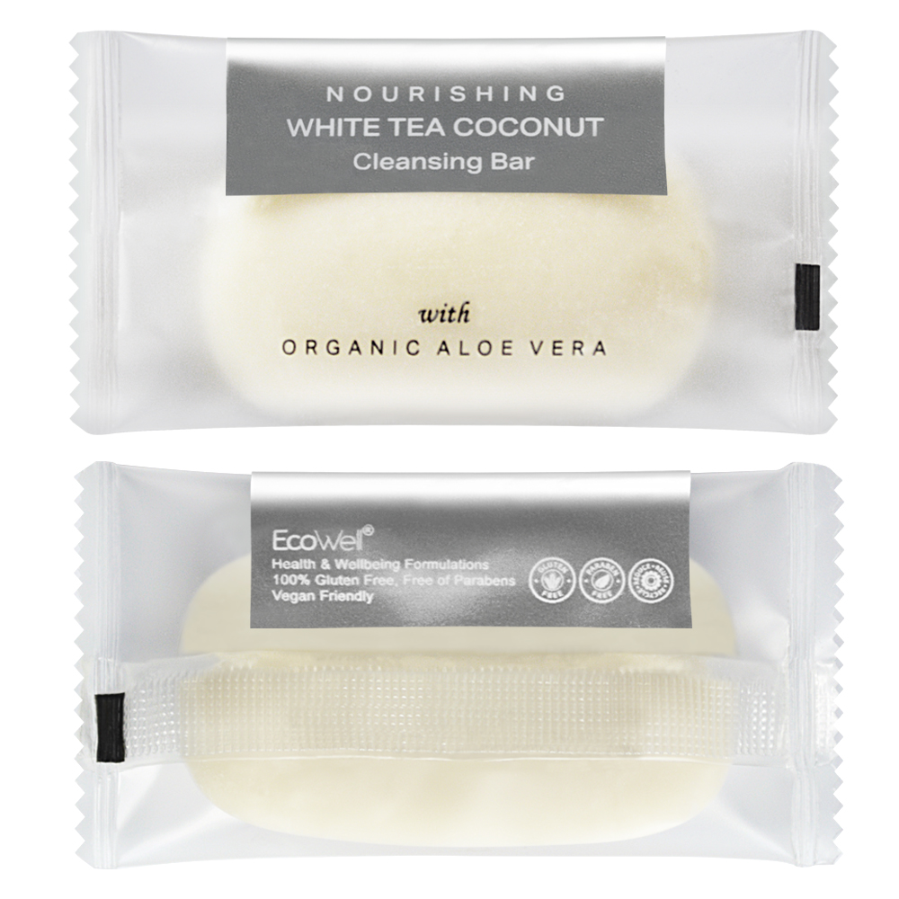 Coconut Cleansing Bar - 40g Sachet (Front and Back)