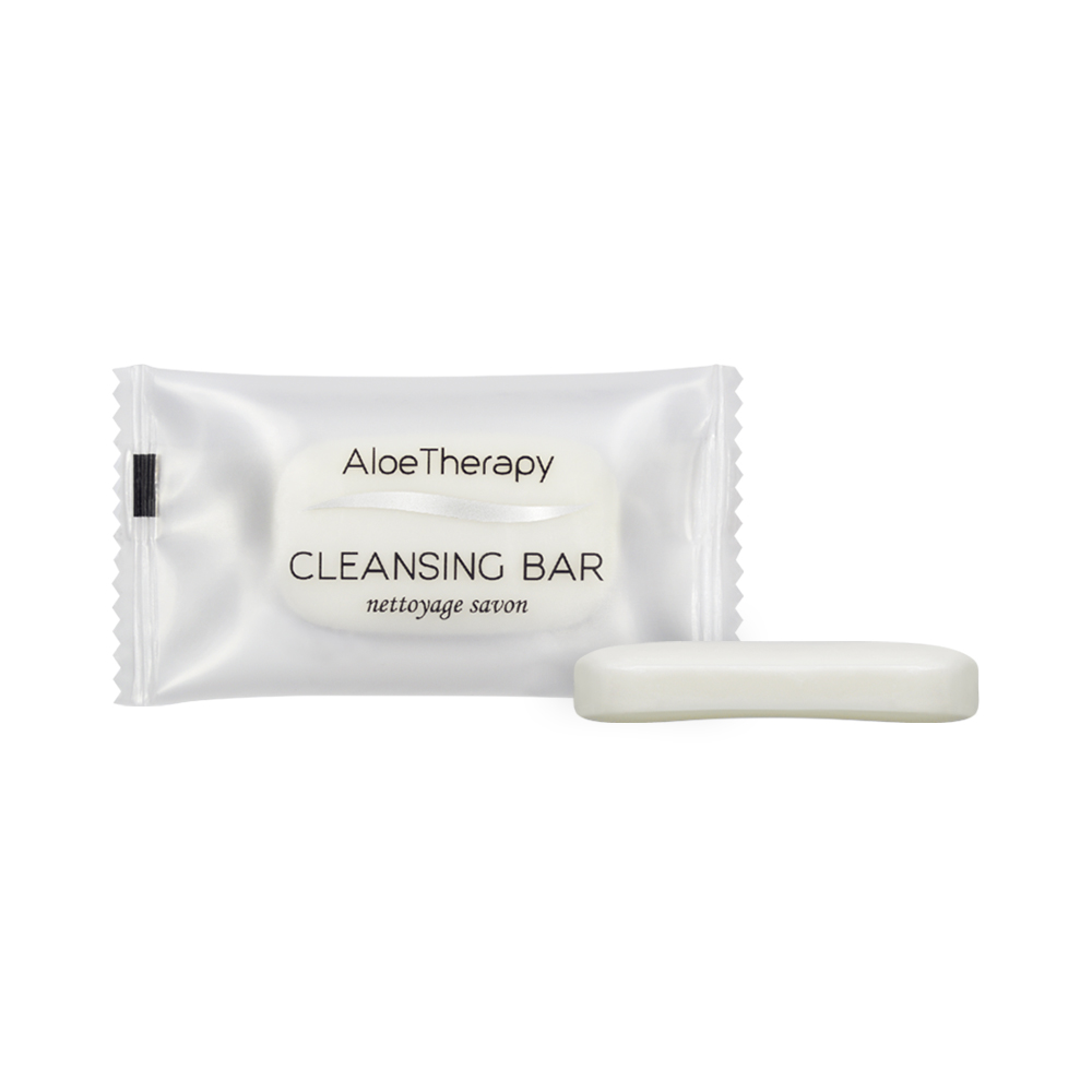 Aloe Vera Cleansing Bar - 8g Sachet (Front and Contents)