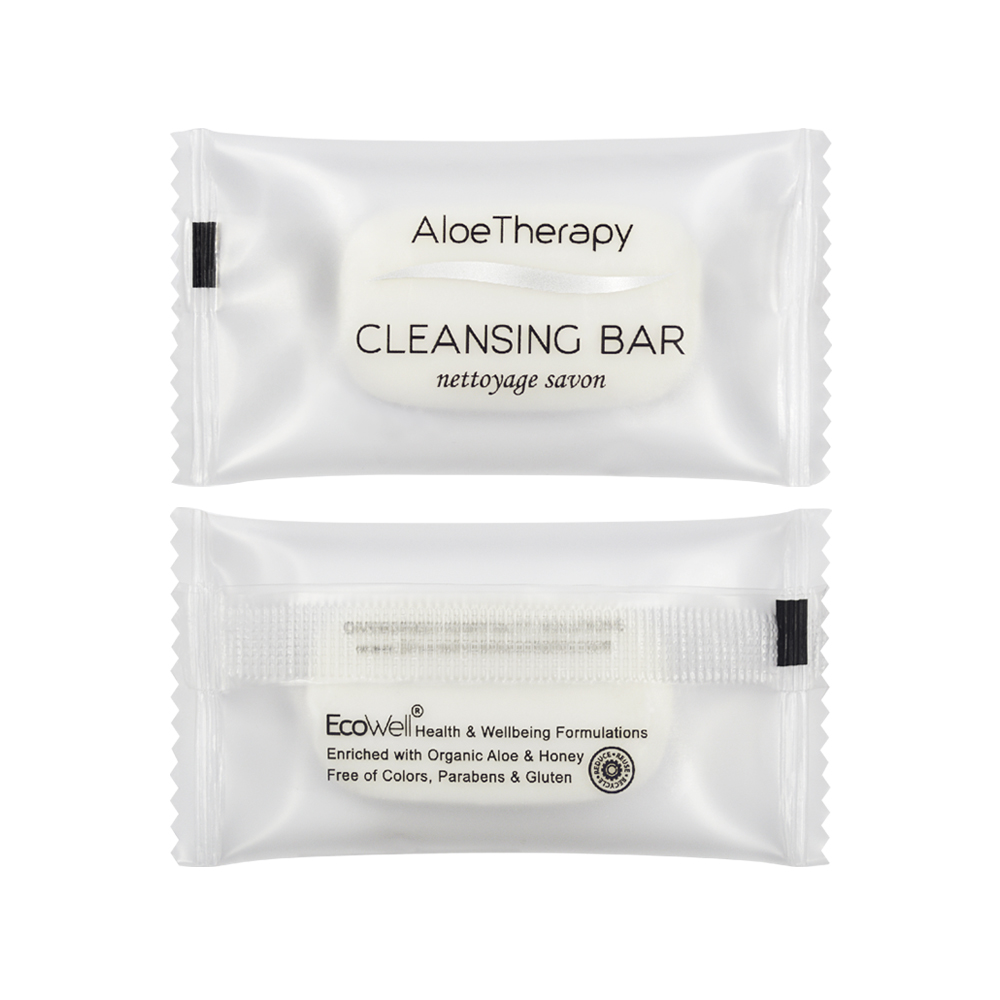 Aloe Vera Cleansing Bar - 12g Sachet (Front and Back)
