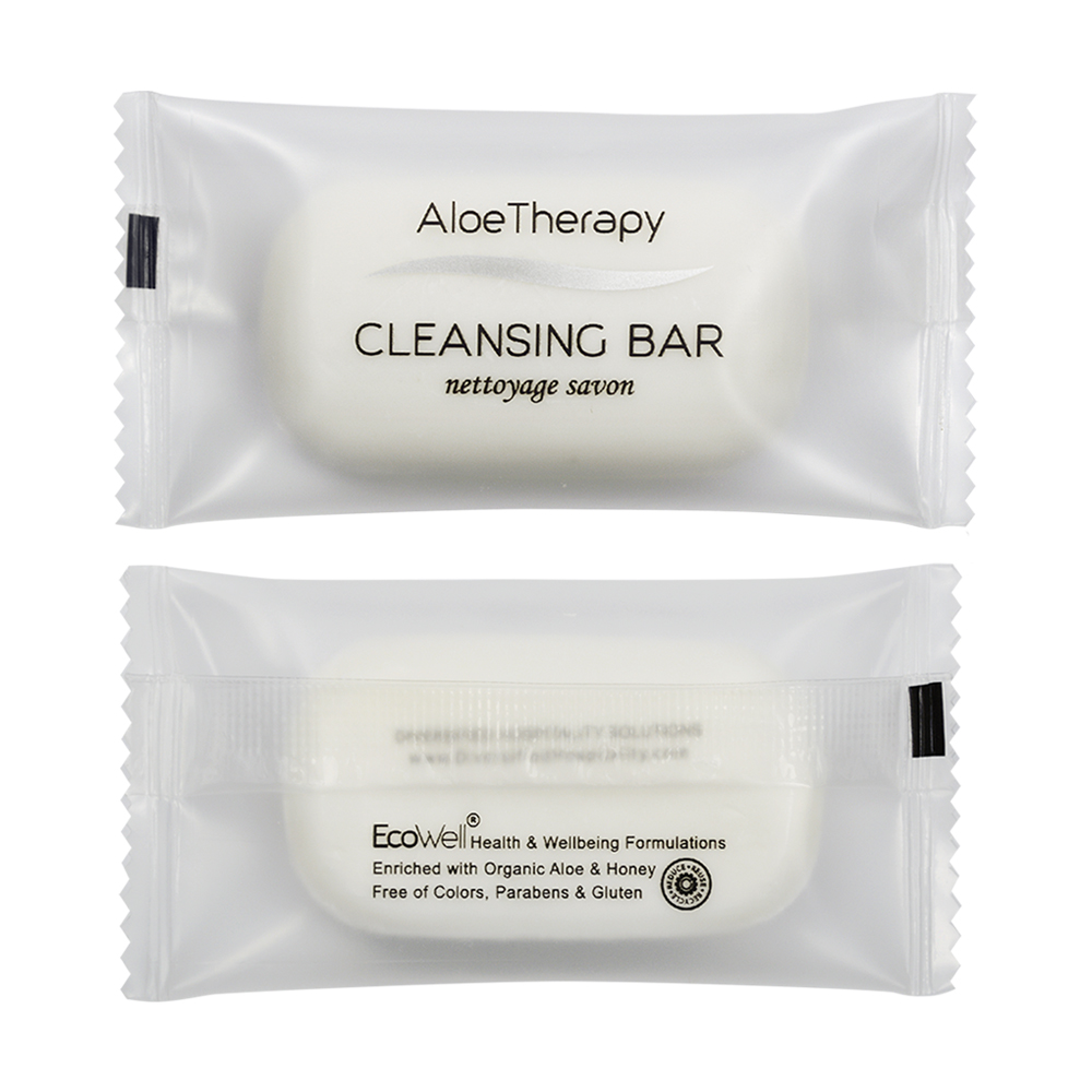 Aloe Vera Cleansing Bar - 20g Sachet (Front and Back)