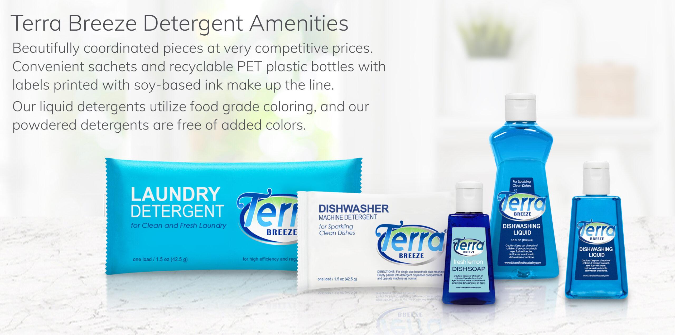 Terra Breeze Detergent Ameneties